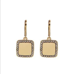 Nine West Square Drop Earrings